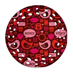 Xoxo! Round Filigree Ornament (two Sides)