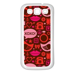 Xoxo! Samsung Galaxy S3 Back Case (white)