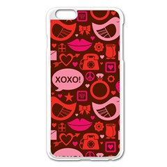 Xoxo! Apple iPhone 6 Plus/6S Plus Enamel White Case