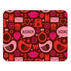 Xoxo! Double Sided Flano Blanket (large)