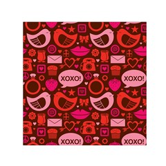 Xoxo! Small Satin Scarf (square)