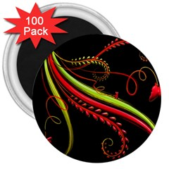 Cool Pattern Designs 3  Magnets (100 Pack)