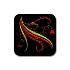Cool Pattern Designs Rubber Square Coaster (4 Pack)
