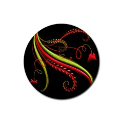 Cool Pattern Designs Rubber Coaster (round)