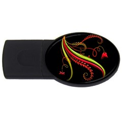 Cool Pattern Designs Usb Flash Drive Oval (2 Gb)