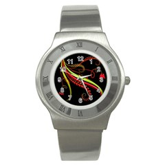 Cool Pattern Designs Stainless Steel Watch