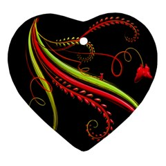 Cool Pattern Designs Heart Ornament (two Sides)