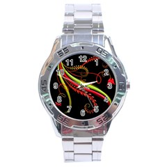 Cool Pattern Designs Stainless Steel Analogue Watch