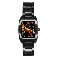 Cool Pattern Designs Stainless Steel Barrel Watch
