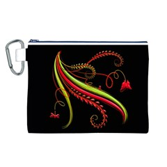 Cool Pattern Designs Canvas Cosmetic Bag (l)