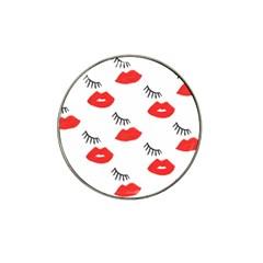 Smooch Pattern Design Hat Clip Ball Marker (4 pack)