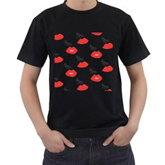 Smooch Pattern Design Men s T-Shirt (Black)