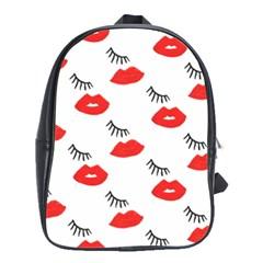 Smooch Pattern Design School Bags(Large)