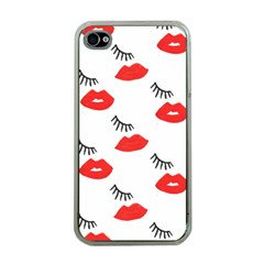 Smooch Pattern Design Apple iPhone 4 Case (Clear)