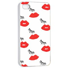 Smooch Pattern Design Apple Iphone 4/4s Seamless Case (white)