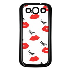 Smooch Pattern Design Samsung Galaxy S3 Back Case (black)