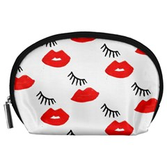 Smooch Pattern Design Accessory Pouches (large)