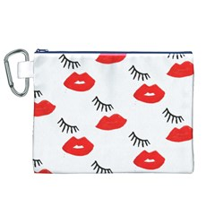 Smooch Pattern Design Canvas Cosmetic Bag (xl)