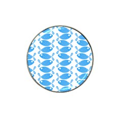 Fish Pattern Background Hat Clip Ball Marker (10 pack)