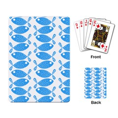 Fish Pattern Background Playing Card