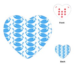 Fish Pattern Background Playing Cards (heart)