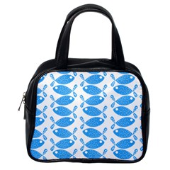 Fish Pattern Background Classic Handbags (One Side)