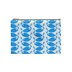 Fish Pattern Background Cosmetic Bag (Medium)