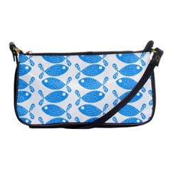 Fish Pattern Background Shoulder Clutch Bags