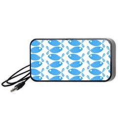 Fish Pattern Background Portable Speaker (Black)