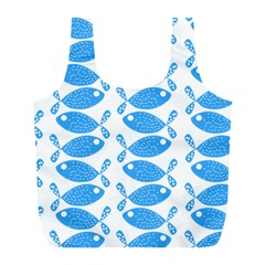Fish Pattern Background Full Print Recycle Bags (l)