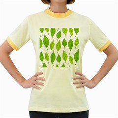 Spring Pattern Women s Fitted Ringer T Shirts