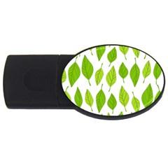 Spring Pattern Usb Flash Drive Oval (2 Gb)