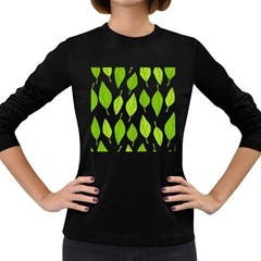 Spring Pattern Women s Long Sleeve Dark T Shirts