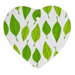 Spring Pattern Heart Ornament (two Sides)