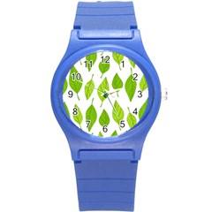 Spring Pattern Round Plastic Sport Watch (s)