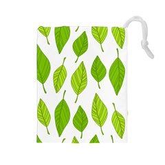 Spring Pattern Drawstring Pouches (large)