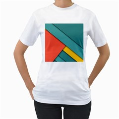 Color Schemes Material Design Wallpaper Women s T-Shirt (White) (Two Sided)