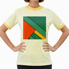 Color Schemes Material Design Wallpaper Women s Fitted Ringer T Shirts