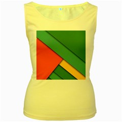 Color Schemes Material Design Wallpaper Women s Yellow Tank Top