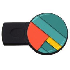 Color Schemes Material Design Wallpaper Usb Flash Drive Round (2 Gb)