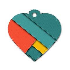 Color Schemes Material Design Wallpaper Dog Tag Heart (One Side)