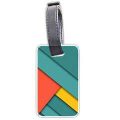 Color Schemes Material Design Wallpaper Luggage Tags (two Sides)