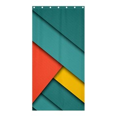 Color Schemes Material Design Wallpaper Shower Curtain 36  x 72  (Stall)