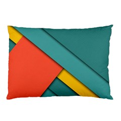 Color Schemes Material Design Wallpaper Pillow Case (Two Sides)