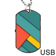Color Schemes Material Design Wallpaper Dog Tag Usb Flash (two Sides)