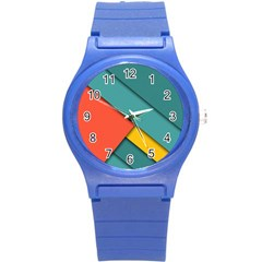 Color Schemes Material Design Wallpaper Round Plastic Sport Watch (S)