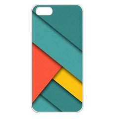 Color Schemes Material Design Wallpaper Apple Iphone 5 Seamless Case (white)