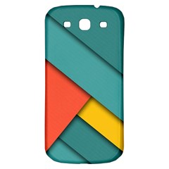 Color Schemes Material Design Wallpaper Samsung Galaxy S3 S III Classic Hardshell Back Case