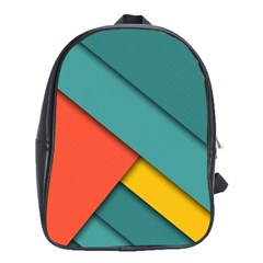 Color Schemes Material Design Wallpaper School Bags (XL)