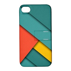 Color Schemes Material Design Wallpaper Apple Iphone 4/4s Hardshell Case With Stand